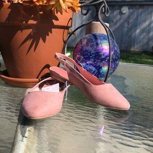 Blush Pink Sling Back Flats Size 4.5